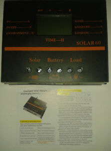 60 Amp Solar Charge Controller With Screen Display & USB Plug