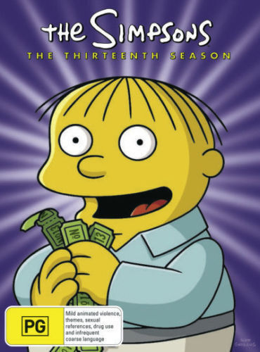 The SIMPSONS: The COMPLETE Season 13 DVD TV SERIES BRAND NEW 4-DISCS BOX SET R4
