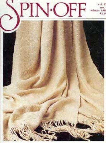 Spin-off magazine Winter 1985: angora, line flax, dyeing