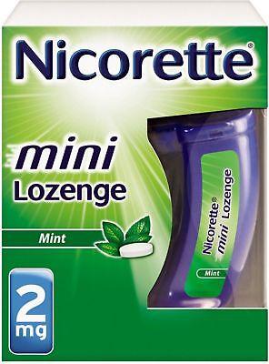 Nicorette Stop Smoking Aid 2 mg Mini Lozenges, Mint 20 ea (Pack of (Stop Smoking Mint)