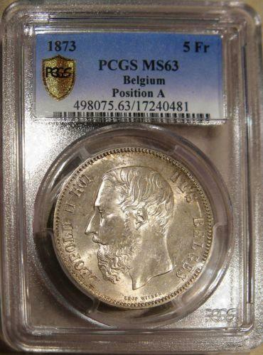 Belgium 1873 5 Francs Ebay