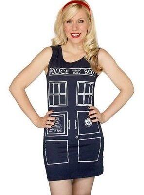 DR DOCTOR WHO TARDIS TANK TUNIC DRESS COSPLAY COSTUME MADE USA XMAS HALLOWEEN (Doctor Who Tardis Costume)