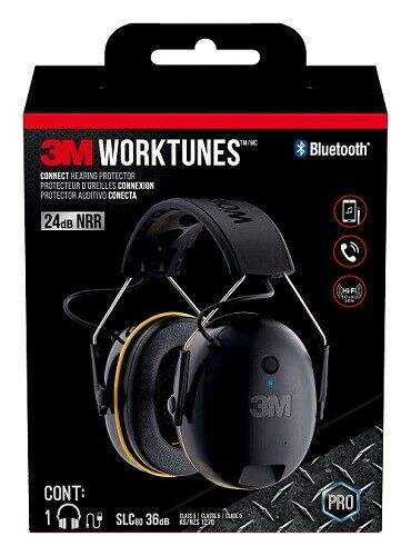 3M WorkTunes Call Connect Bluetooth Earmuffs Headphones - Hearing Protection