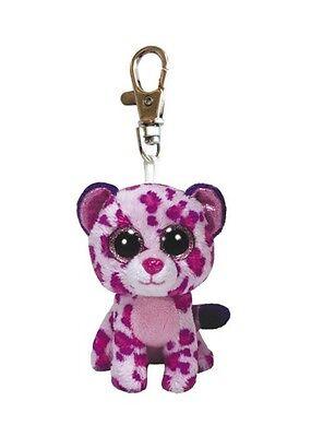 Ty Beanie Boos Clip Schlüsselanhänger Leopard Glamour 8,5 cm Glubschi Glitzer