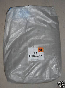 25KG Bag of Fire Clay to make Refractory Furnace Kiln