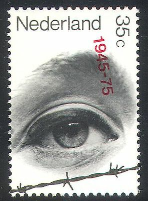 NETHERLANDS 1975 EYE/BARBED WIRE/WWII/WAR/LIBERATION/MILITARY 1V N29117
