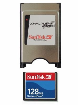 128MB SanDisk  CF Compact Flash+ATA PC Adapter =128MB PCMCIA Flash Disk For CNC