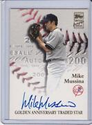Mike Mussina Autograph