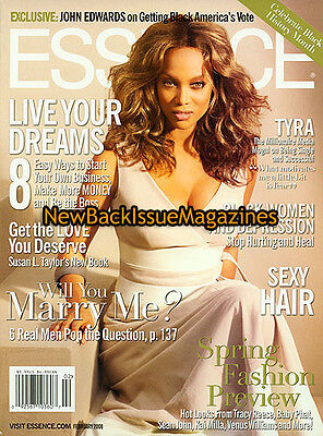 Essence 2 08 Tyra Banks Cover 2 Of 2 February 2008 New