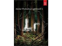 ADOBE PHOTOSHOP LIGHTROOM 5 NEW ON DISC FOR WINDOWS PC/LAPTOP WITH PRODUCT KEYS 32/64 BIT
