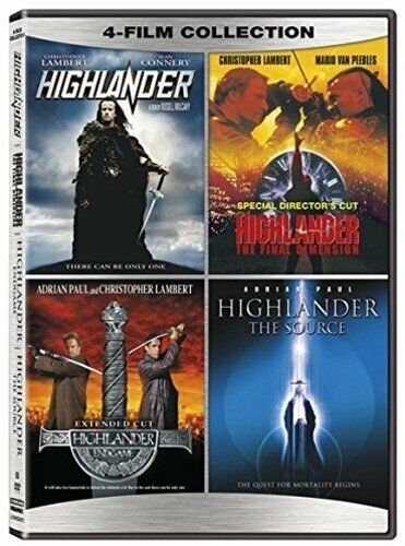 Highlander 4-Film Collection (DVD) 4-Discs NEW FREE SHIPPING