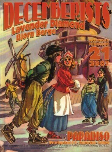 The Decemberists Poster Offset Paradiso 2007 Lavender Diamond Bjorn Berge
