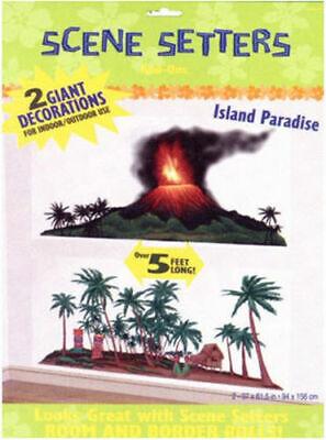 Hawaii Decoration Party (TROPICAL ISLAND PARADISE scene setter LUAU party decoration Volcano Palm)