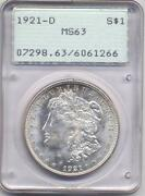 1921 Morgan Silver Dollar MS63