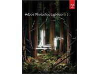 GENUINE ADOBE PHOTOSHOP LIGHTROOM 5 NEW ON ORIGINAL SEALED ADOBE DISC WITH KEYS FOR WINDOWS PC