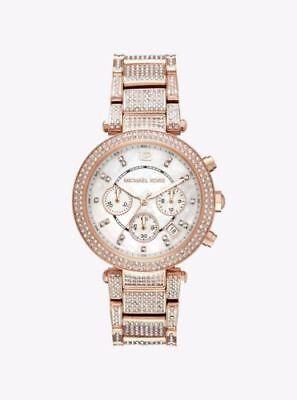 Michael Kors Parker Pavé Rose-Gold Watch MK6514 Ladies
