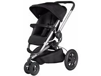 Brand *NEW* in box Quinny Buzz Xtra in Rocking Black with car seat adapters