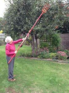 Professional Metal Fruit Picker with Long Telescoping 8ft Pole & Fruit Catcher - FREE SHIPPING