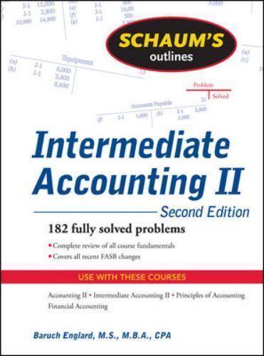 Intermediate Accounting II By Baruch Englard 2009 Paperback