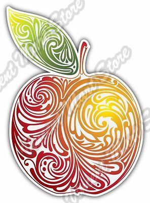 Red Apple Abstract Art Design Colorful Car Bumper Vinyl Sticker Decal 4