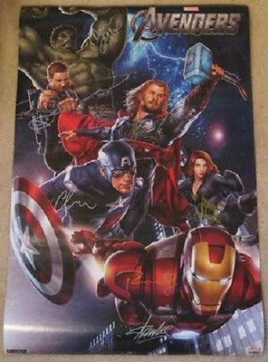 Avengers Autograph Signed Poster Marvel Comics Autopen Replica Signatures
