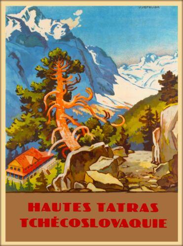 High Tatras Czech Republic Poland European Travel Advertisement Art Poster Print
