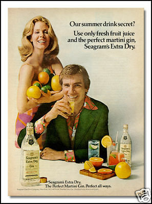 1973 vintage ad for Seagrams Gin