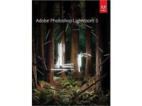ADOBE PHOTOSHOP LIGHTROOM 5 NEW ON DISC WITH ACTIVATION KEYS THIS IS FOR WINDOW 7,8,10