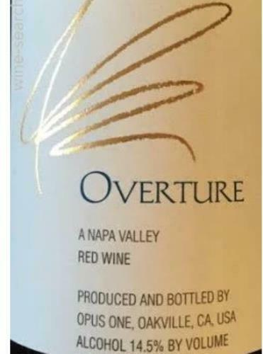 Opus One Overture Napa Valley 750ML