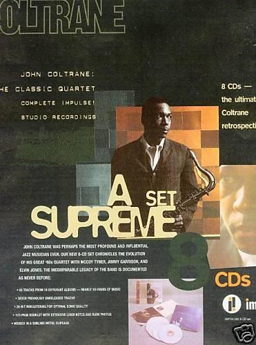 JOHN COLTRANE A Supreme Set 1998 PROMO POSTER AD mint