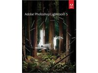 GENUINE ADOBE PHOTOSHOP LIGHTROOM 5 NEW ON DISC WITH ACTIVATION KEYS FOR WINDOWS