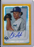 Chris Archer Bowman Chrome Auto