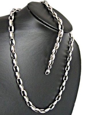 XXL Set Edelstahl Herren Kette Armband Königskette Panzerkette Halskette silber