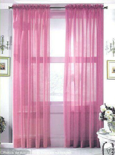 Rose Sheer Curtain Ebay
