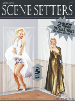 MARILYN MONROE Scene Setter Hollywood movie night party wall decoration BACKDROP - Marilyn Monroe Party Supplies