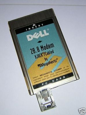 Dell/Megahertz PCMCIA 28.8 Modem PC Card with XJACK