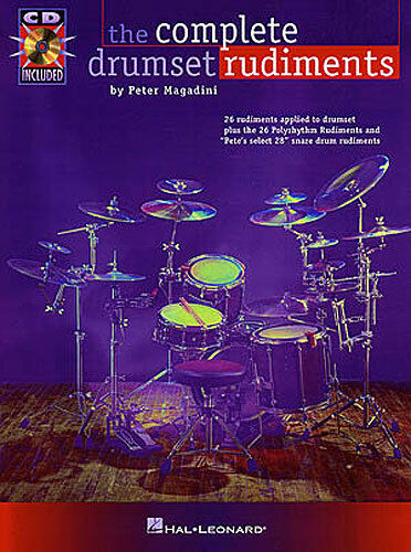 The Complete Drumset Rudiments Learn to Play Drums Music Book & CD