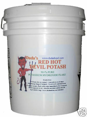 45 Potassium Hydroxide Red Hot Devil Potash Biodiesel