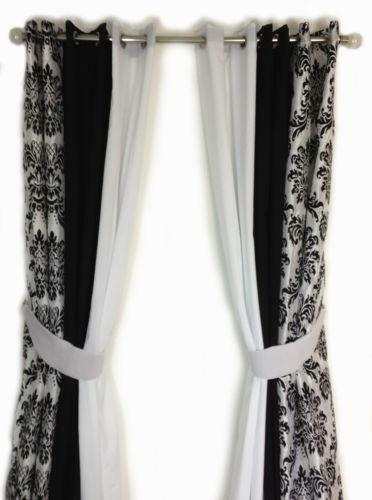 Black And White Ring Top Curtains Ebay