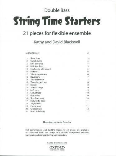 Blackwell: Stringtime Starters Bass Part OUP3411616