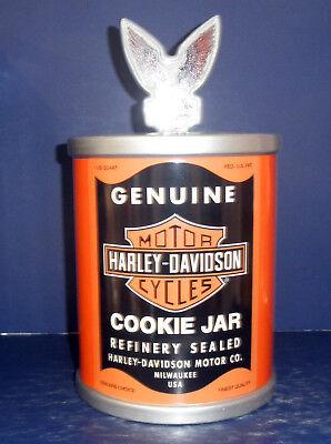 Used, Vandor Harley Davidson Oil Can Cookie Jar: #59142  - from 1998- New in Box for sale  Delavan