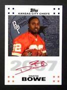 Dwayne Bowe Auto