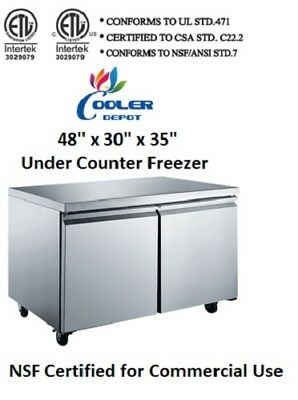 Nsf Under Counter Freezer 48 Ins Tuc48ffreezer Refrigerator Under Counter