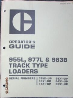 WTB Operator Manual Cat 977L Track Loader Rockhampton 4700 Rockhampton City Preview