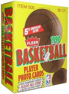 1990 Fleer Basketball player trading cards BOX set sealed.