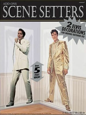 ELVIS PRESLEY Scene Setter HOLLYWOOD movie night party wall decor kit THE KING - Elvis Presley Party Supplies