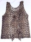 Animal Print Blouses for Women with Ruffle