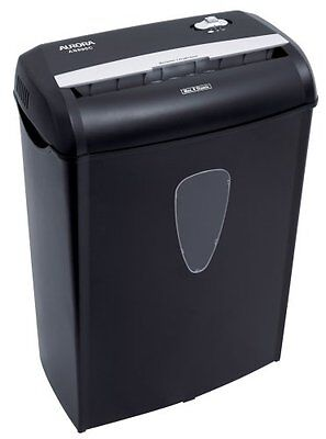 New Aurora As890c 8-sheet Cross Cut Paper Credit Card Shredder Basket Heavy Duty