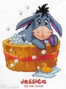 Winnie The Pooh Cross Stitch Birth Sampler
