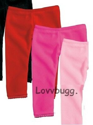 "Lovvbugg Hot Pink Leggings Pants for 18"" American Girl Doll Clothes"